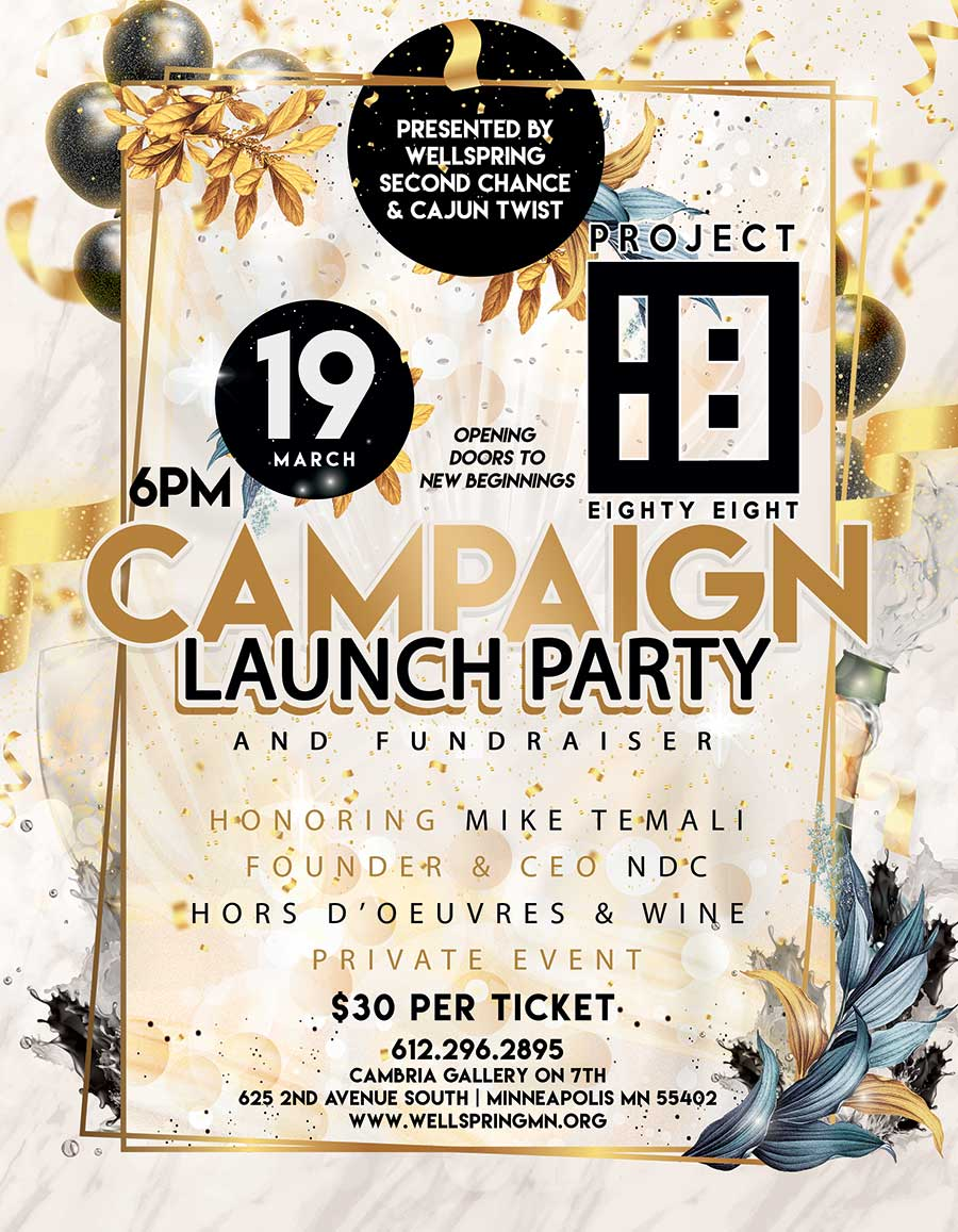 """""""Project Eighty Eight"""" Campaign Launch Party and Fundraiser"""