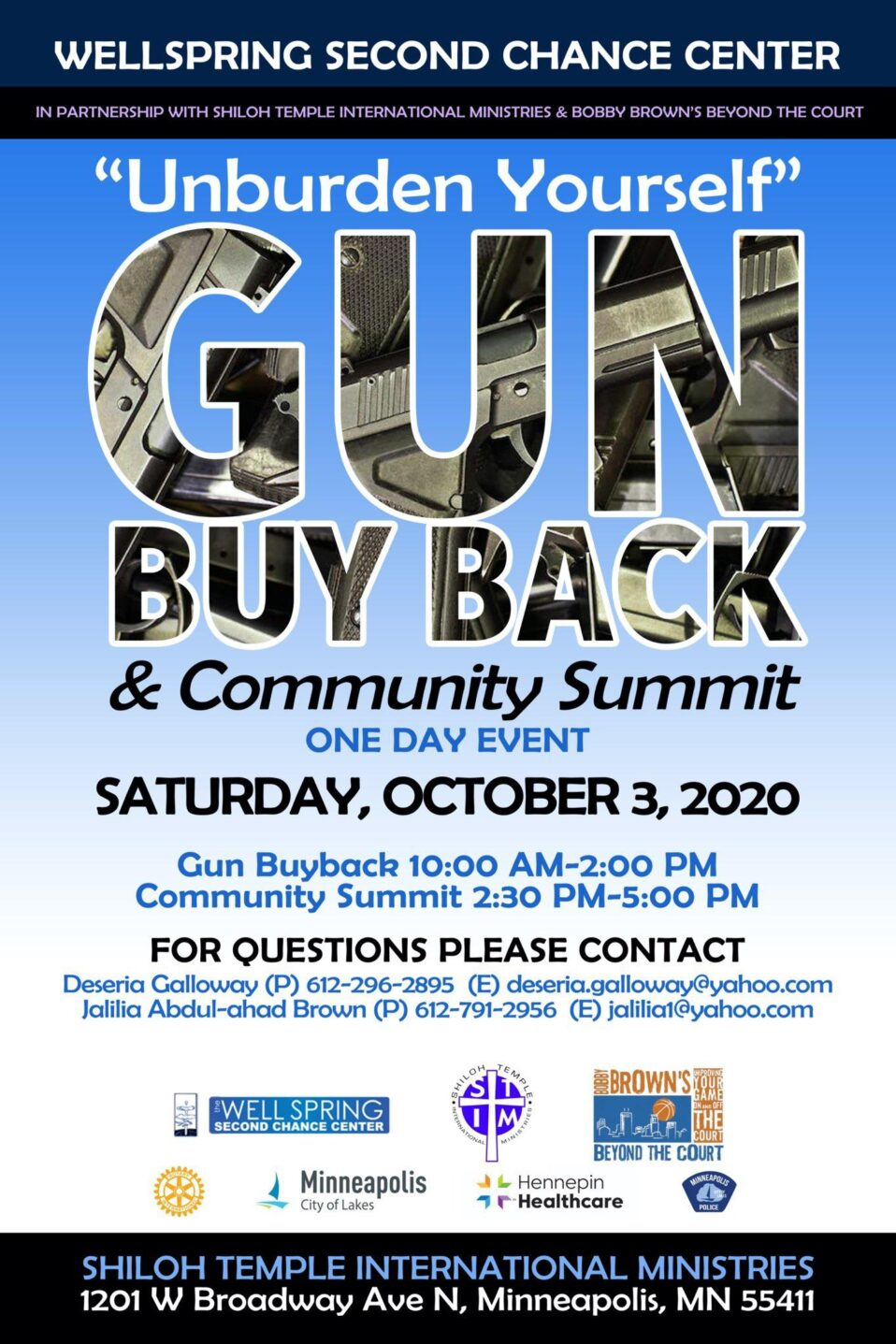 Unburden Yourself Gun Buy Back & Summit